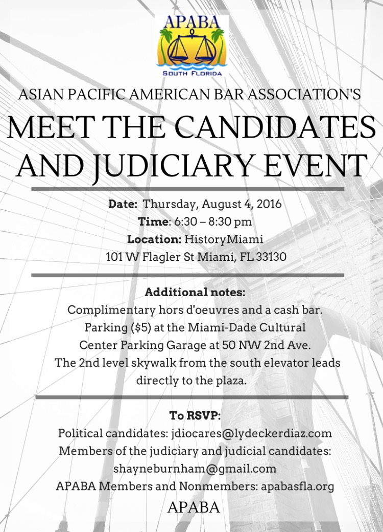 Meet the Candidates and Judiciary Flyer
